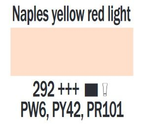 Farba akrylowa ArtCreation Talens 200 ml Naples yellow red light nr 292