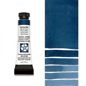 Farba akwarelowa Daniel Smith 082 seria 1 PRUSSIAN BLUE extra fine watercolor 5 ml