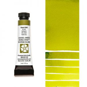 Farba akwarelowa Daniel Smith 139 Green Gold extra fine watercolours seria 2 5 ml