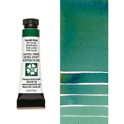 Farba akwarelowa Daniel Smith 142 CASCADE GREEN extra fine watercolor  seria 1 5 ml