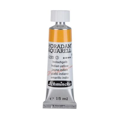 Farba akwarelowa Aquarell Horadam Schmincke nr 220 seria 2 indian yellow tubka 15 ml
