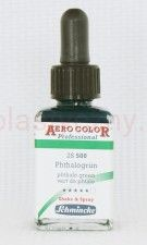 Tusz akrylowy Aero Color Schmincke 28 ml 500 phthalo green