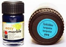 Farba do marmurkowania Easy Marble Marabu 15 ml - 098 Turkisblau
