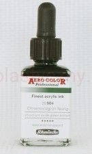 Tusz akrylowy Aero Color Schmincke 28 ml 504 chromium oxide green brillant