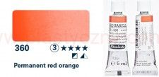 Farba akwarelowa Horadam Schmincke tubka 5 ml nr 360 Permanent red orange