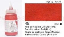 Farba akrylowa Vallejo Acrylic Studio nr 45 Dark Cadmium red (hue) 500 ml