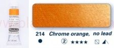 Farba akwarelowa Aquarell Horadam Schmincke nr 214 seria 2 Chrome orange lead free tubka 15 ml