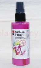 Farba do tkanin z atomizerem 100 ml 033 różowa Marabu Fashion Spray