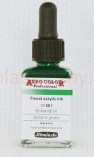 Tusz akrylowy Aero Color Schmincke 28 ml 501 brillant green