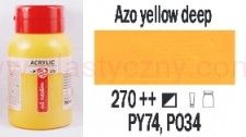 Farba akrylowa ArtCreation Talens 750 ml Azo yellow deep nr 270