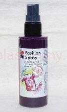 Farba do tkanin z atomizerem 100 ml 037 fiolet śliwka Marabu Fashion Spray