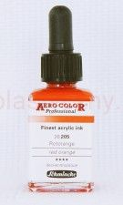 Tusz akrylowy Aero Color Schmincke 28 ml 205 red orange