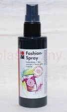 Farba do tkanin z atomizerem 100 ml 073 czarna Marabu Fashion Spray
