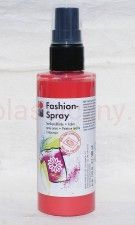 Farba do tkanin z atomizerem 100 ml 212 czerwona Flamingo Marabu Fashion Spray