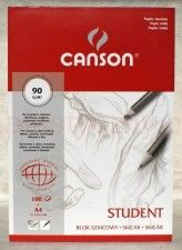 Blok szkicowy Student Canson 90g/m, A4,100 ark