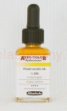 Tusz akrylowy Aero Color Schmincke 28 ml 203 indian yellow