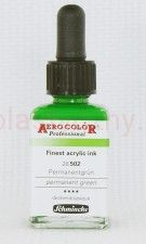 Tusz akrylowy Aero Color Schmincke 28 ml 502 permanent green