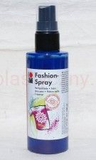 Farba do tkanin z atomizerem 100 ml 258 niebieska Marabu Fashion Spray