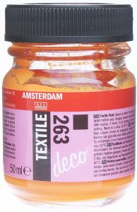 Farba do malowania na tkaninie Amsterdam Deco Textile Talens nr 263 orange opaque 50 ml