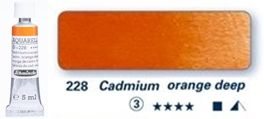 Farba akwarelowa Horadam Schmincke tubka 5 ml nr 228 Cadmium orange deep