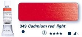 Farba akwarelowa Horadam Schmincke tubka 5 ml nr 349 Cadmium red light