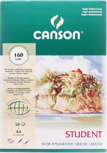 Blok rysunkowy fakturowany Canson Student 160g/m,A4, 50 ark