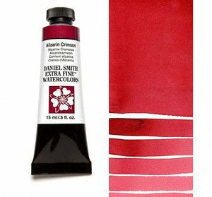 Farba akwarelowa Daniel Smith 004 ALIZARIN CRIMSON extra fine watercolor 004 seria 1 15 ml