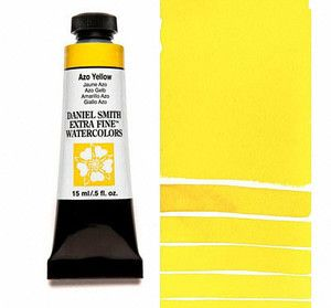 Farba akwarelowa Daniel Smith 215 Azo Yellow extra fine watercolours seria 3 15 ml