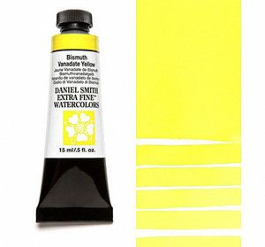 Farba akwarelowa Daniel Smith extra fine watercolour 154 Bismuth Vanadate Yellow seria 2 15 ml