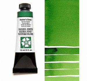 Farba akwarelowa Daniel Smith 042 Hooker\'s Green extra fine watercolours seria 1 15 ml