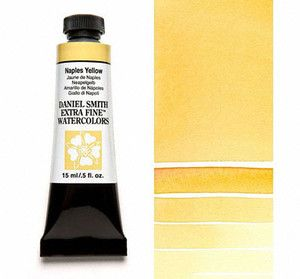 Farba akwarelowa Daniel Smith 058 Naples Yellow extra fine watercolours seria 1 15 ml