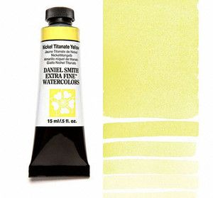 Farba akwarelowa Daniel Smith 062 Nickel Titanate Yellow extra fine watercolours seria 1 15 ml