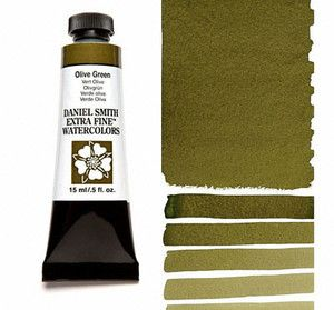 Farba akwarelowa Daniel Smith 063 Olive Green extra fine watercolours seria 1 15 ml