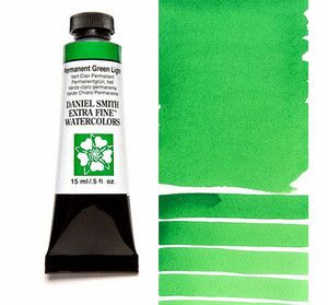 Farba akwarelowa Daniel Smith 067 permanent green light extra fine watercolor seria 1 15 ml