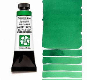 Farba akwarelowa Daniel Smith 070 Permanent Green extra fine watercolours seria 1 15 ml