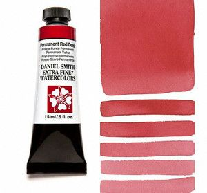 Farba akwarelowa Daniel Smith 069 Permanent Red Deep extra fine watercolours seria 1 15 ml