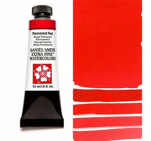 Farba akwarelowa Daniel Smith 072 Permanent Red extra fine watercolours seria 1 15 ml