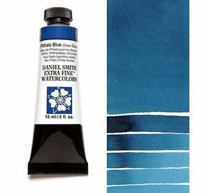 Farba akwarelowa Daniel Smith 077 PHTHALO BLUE (GS) extra fine watercolor seria 1 15 ml
