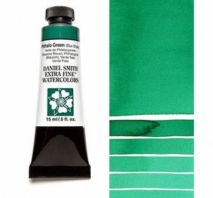 Farba akwarelowa Daniel Smith 078 Phthalo Green (Blue Shade) extra fine watercolours seria 1 15 ml