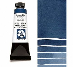 Farba akwarelowa Daniel Smith 082 PRUSSIAN BLUE extra fine watercolor seria 1 15 ml