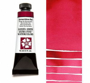 Farba akwarelowa Daniel Smith 091 QUINACRIDONE RED extra fine watercolour seria 2 15 ml