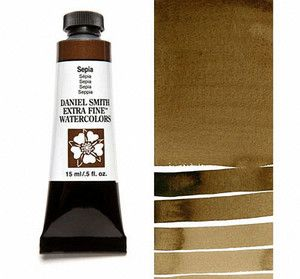 Farba akwarelowa Daniel Smith 103 Sepia extra fine watercolor seria 1 15 ml