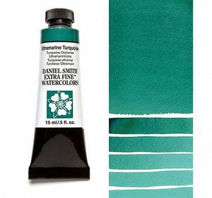 Farba akwarelowa Daniel Smith 105 Ultramarine Turquoise extra fine watercolours seria 1 15 ml