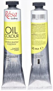 Rosa Gallery farba olejna Oil colour nr 111 cadmium yellow 45 ml