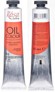 Rosa Gallery farba olejna Oil colour nr 112 cadmium red light (HUE) 45 ml