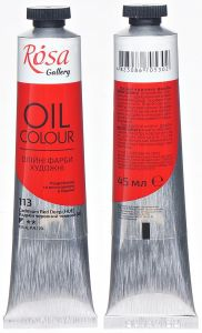 Rosa Gallery farba olejna Oil colour nr 113 cadmium red deep(HUE) 45 ml