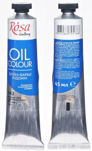Rosa Gallery farba olejna Oil colour nr 142 prussian blue 45 ml