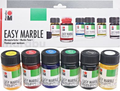 Komplet farb do marmurkowania Easy Marble 6x15 ml