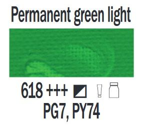Farba akrylowa ArtCreation Talens 750 ml Permanent green light nr 618