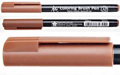 Pisak pędzelkowy Koi Coloring Brush Pen Sakura #12 brown